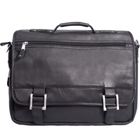 Copper Canyon Expandable Briefcase (Black Only) - Promo 105