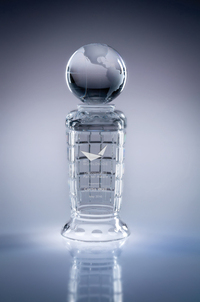 Empire Lead Crystal World Globe Cup Award - Small