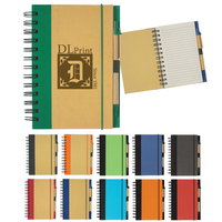 "Eco-Friendly 5"" x 7"" Spiral Notebook & Pen"