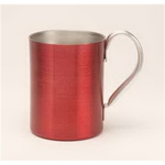 Aluminum Mug - Red. 12 oz.