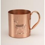Solid Copper Moscow Mule Mug. 18 oz.