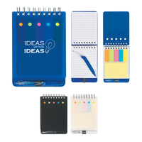 Spiral Jotter with Sticky Notes, Flags & Pen