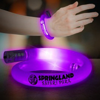 Purple Flashing Coil Tube Bracelets