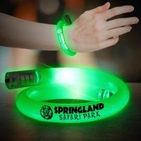 Green Flashing Coil Tube Bracelets