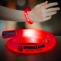 Red Flashing Coil Tube Bracelets
