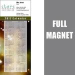 """14 Mil Full Color Vinyl Calendar Magnet (3 1/2"""" x 8 1/2"""")"""