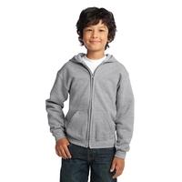 Gildan Youth Heavy Blend Full-Zip Hooded Sweatshirt.
