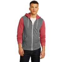 Alternative Colorblock Rocky Eco -Fleece Zip Hoodie.
