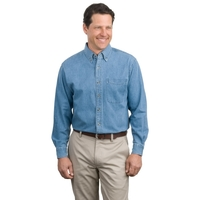 Port Authority Long Sleeve Denim Shirt.