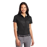 Port Authority Ladies Short Sleeve Easy Care Shirt.