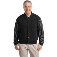 Port Authority Wool and Leather Letterman Jacket.