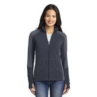 Port Authority Ladies Colorblock Microfleece Jacket.