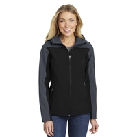 Port Authority Ladies Hooded Core Soft Shell Jacket.