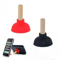 Toilet pump suction cup silicone mobile phone stand