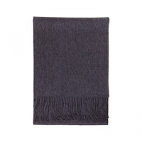 "Merino / Cashmere Blend Scarf , 12"" x 72"" - Charcoal"