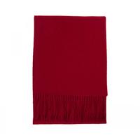 """Merino / Cashmere Blend Scarf , 12"""" x 72"""" - Garnet Red"""