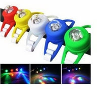 Silicone LED bike frogs bicycle double flashing light