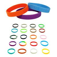 """Silicone Wristband - 1/2"""" Debossed"""