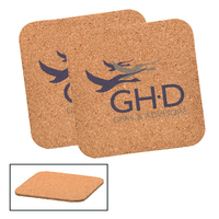 Square Cork Beverage Coaster
