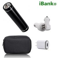 iBank®2,600 mAh Power Bank + Dual USB Car Charger