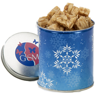 Quart Tin with Peanut Crunch Squares