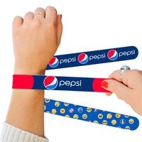 Pantone Matched Silicone Slap Bracelets