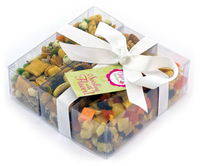 Triple Treat Present with Healthy Snack Mix