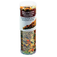 Healthy Snack Tube with Nuts, Seeds, Peas, Rice Crackers