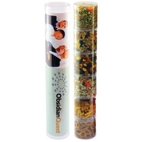 Six Tube Stack with Healthy Snacks - Nuts, Fruit, Chex Mix