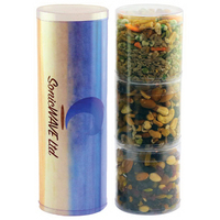 Three Tube Stack with Healthy Snacks - Nuts
