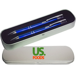 JJ Series Pen and Pencil in 2 Piece Tin Gift Box