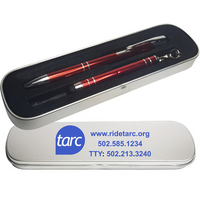 JJ Series Pen and Mini Stylus in 2 Piece Tin Gift Box