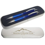 Galaxy Pen and Pencil in 2 Piece Tin Gift Box
