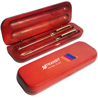 Rosewood Ballpoint and Roller Pens in Rosewood Gift Box