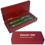 Saturn Pen and Pencil in 2 Piece Rosewood Gift Box