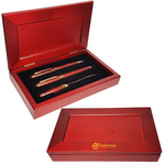 Rosewood Ballpoint, Roller and Letter Opener 3 Piece Set