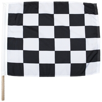 "24"" x 30"" End of Race Nylon Auto Racing Flag"