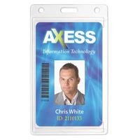 "Economy Clear Rigid Plastic Badge Holders, 2.13"" x 3.38"""