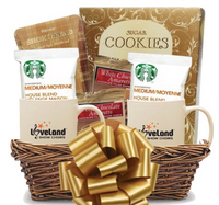 Coffee, Cookies & Mugs Gift Basket