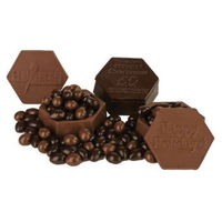Molded Choc Boxes With Milk & Dark Chocolate Covered Almonds