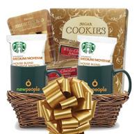Starbucks Coffee, Cookies & Double Green Mug Gift Basket