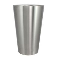 18oz Double Wall Stainless Steel Pint Glass