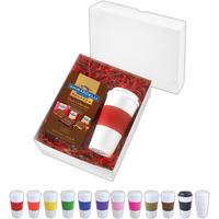 16 oz Plastic Brazilian Tumbler w/Chocolate squares gift box