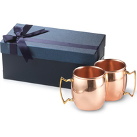 2- 20 oz Classic single wall copper Moscow Mule Gift Set