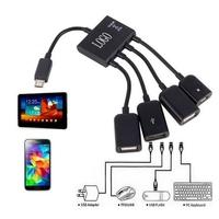 4 Ports Micro USB OTG Charge Hub Spliter