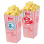 Empty Open Top Popcorn Box