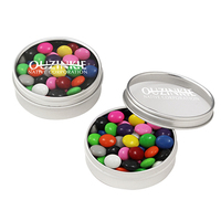 Small Round Window Tin / Chocolate Buttons