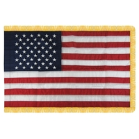 3' x 5' U.S. Nylon Flag w/ Pole Hem & Fringe (Imported)