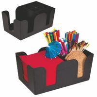 Bar Caddy, Six Compartments, Black
