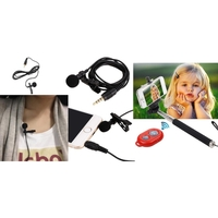 iBank®Microphone+Selfie Stick+Bluetooth Shutter